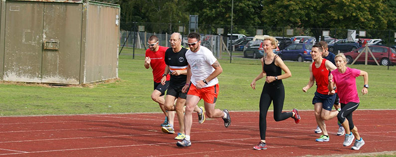 Runners test out their speed at Droitwich athletics track