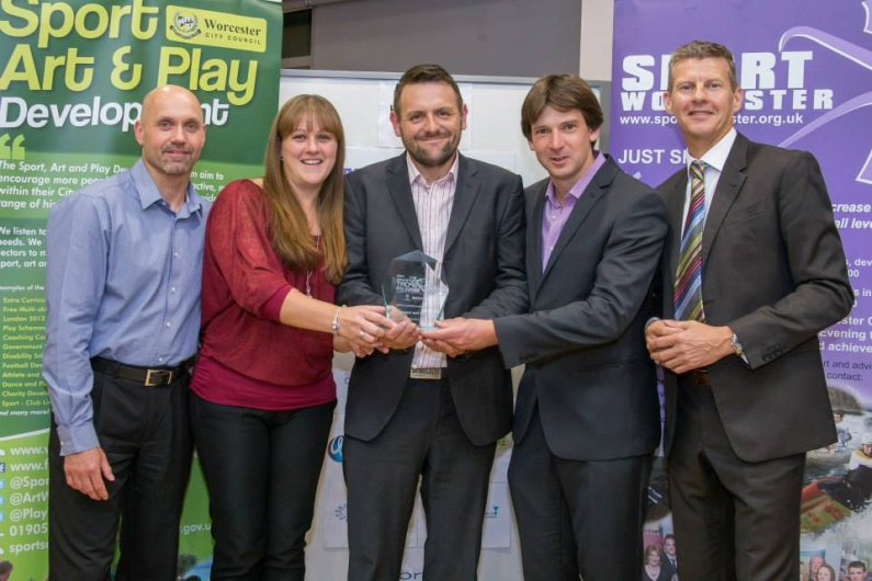 Club receives award at the 2015 City of Worcester Sport Awards