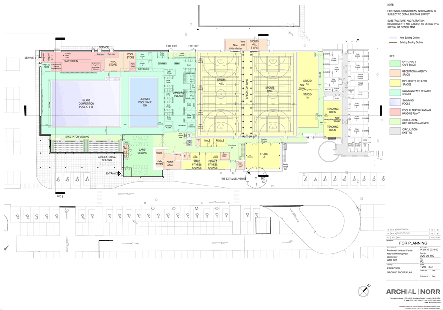 The new floor plan of the leisure centre